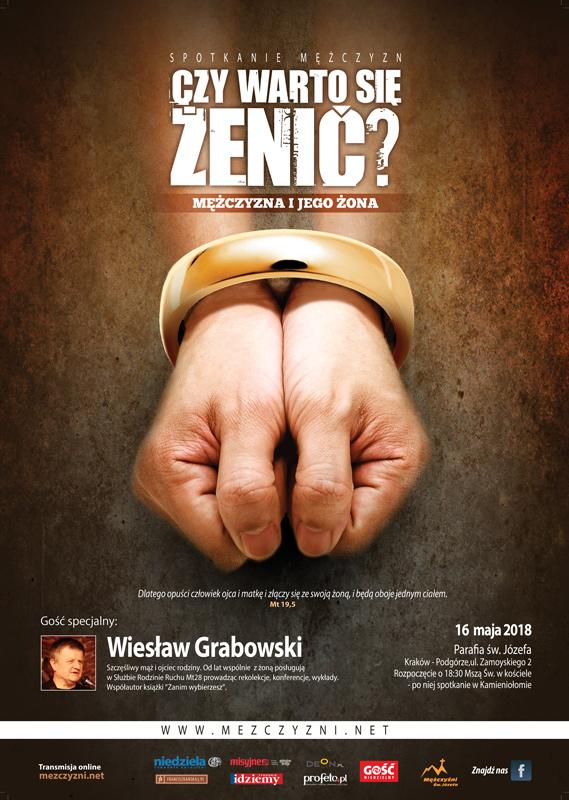 Spotkanie otwarte Mężczyzn Świętego Józefa w Krakowie - plakat