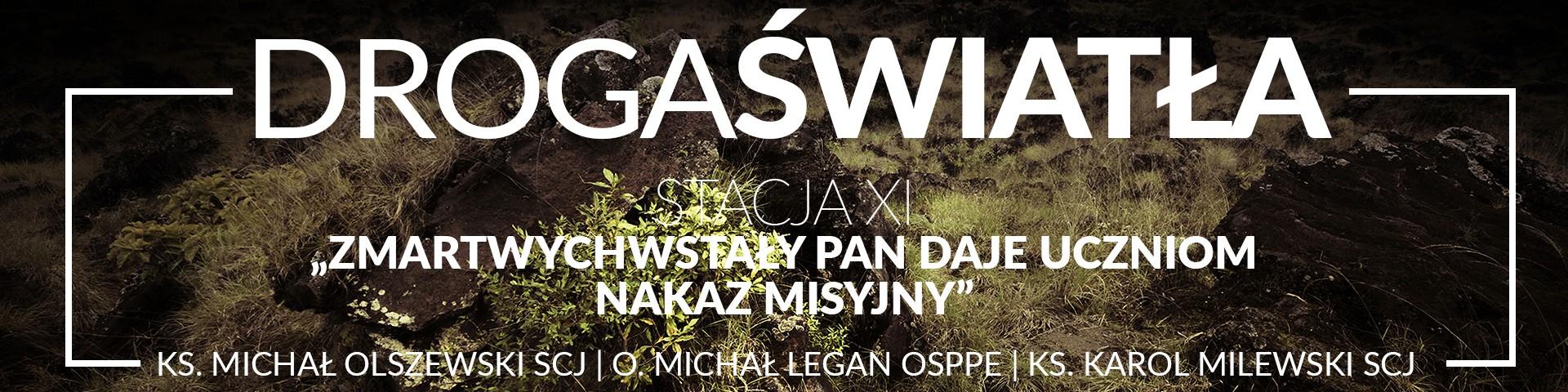 Droga Światła - Stacja XI: Zmartwychwstały Pan daje uczniom nakaz misyjny - O. Michał Legan OSPPE (video)